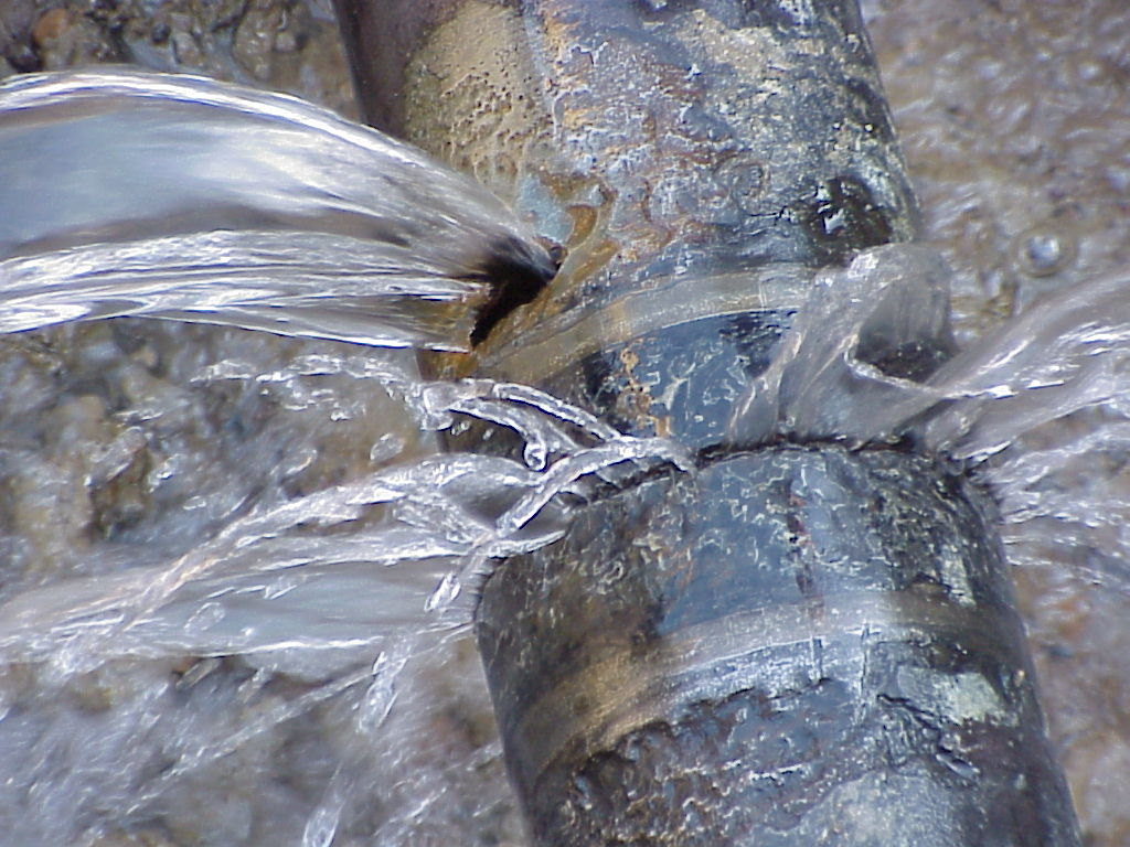 Burst pipe found underground